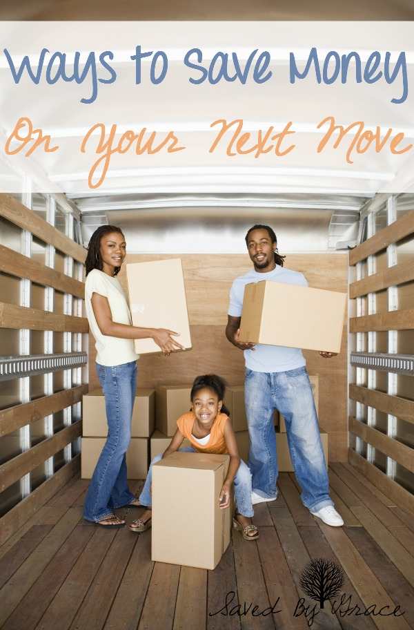 4 Ways to Save Money on Your Next Move- how to save money on moving, packing and getting set up in your new home.