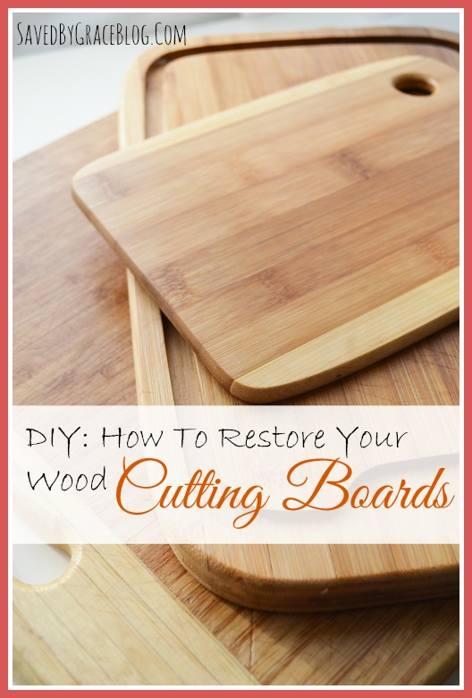 No reason to buy a new cutting board! How to Restore Your Wood Cutting Boards. DIY tutorial by Saved by Grace