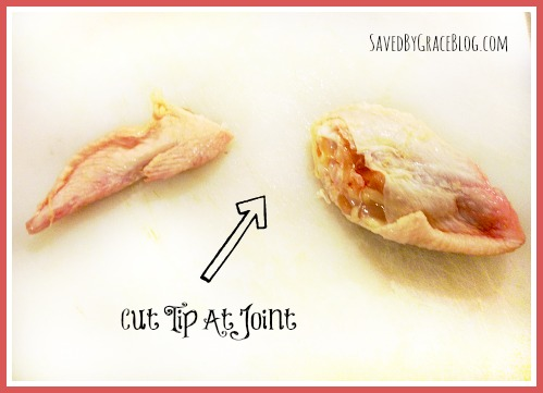 How To cut up chiken wings 1