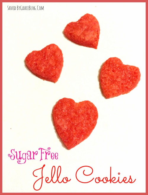 Valentine's Day Jello Cookies diabetic friendly
