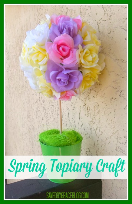 Spring time topiary craft