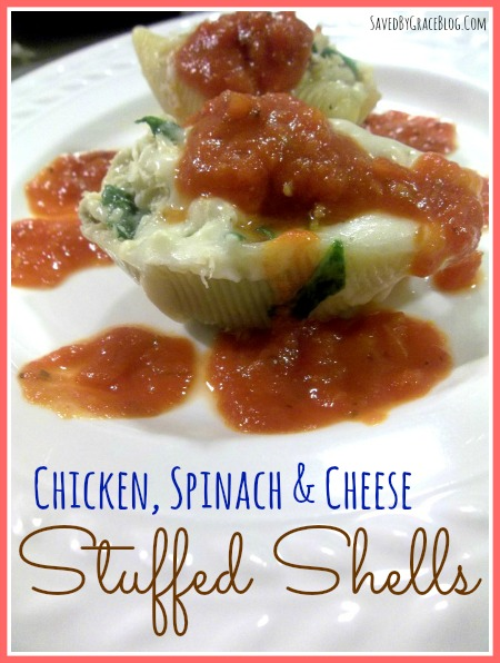 chicken and cheese stuffed Shells