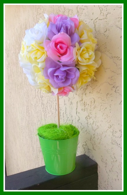 spring topiary craft