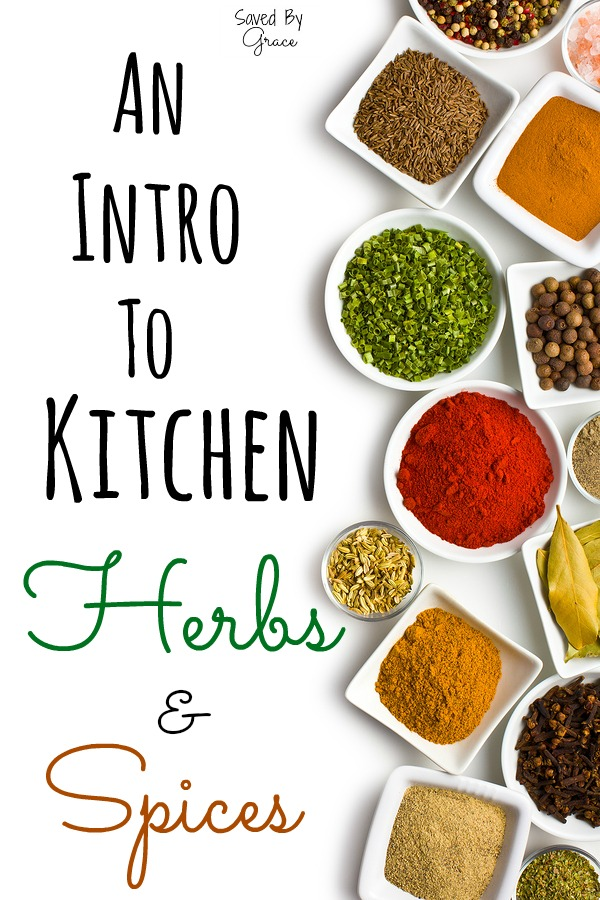 an intro to kitchen herbs and spices