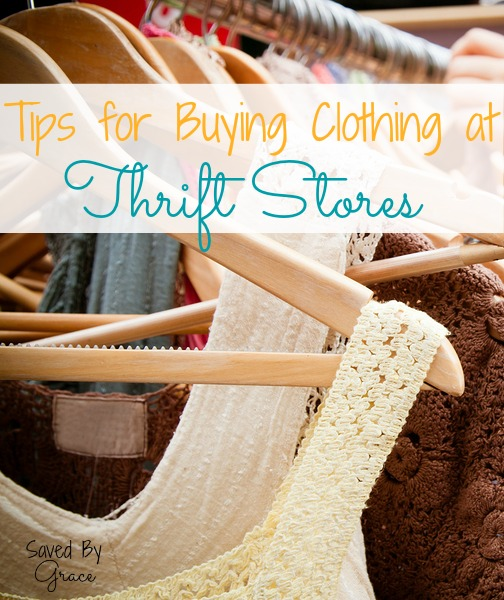 tips for buying clothing at thrift stores