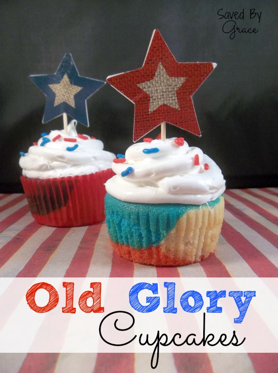 old glory cupcakes set