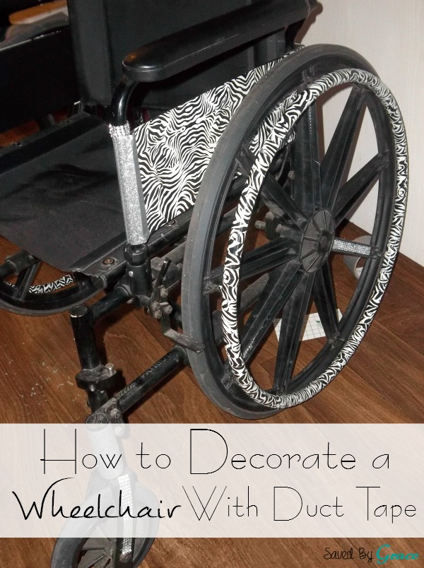 How to Decorate a Wheelchair with Duct Tape
