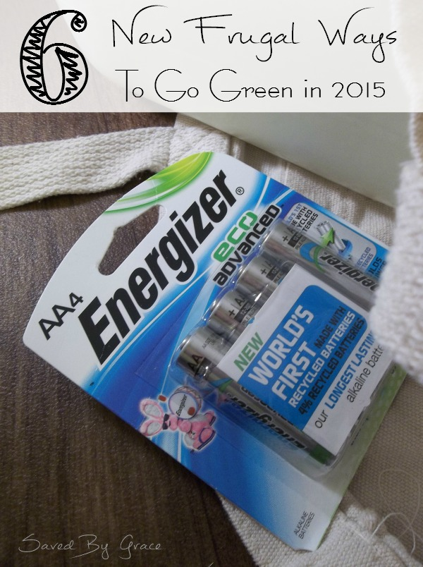 6 New Frugal Ways to Go Green in 2015- these tips for new frugal ways to go green easy, low cost and different than what you are probably already doing.