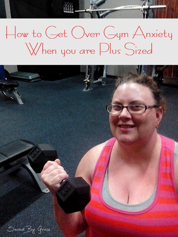 How to Get over Gym Anxiety when you are Plus Sized including tips for overcoming gym anxiety, and ways to get to the gym more as a plus sized gal.