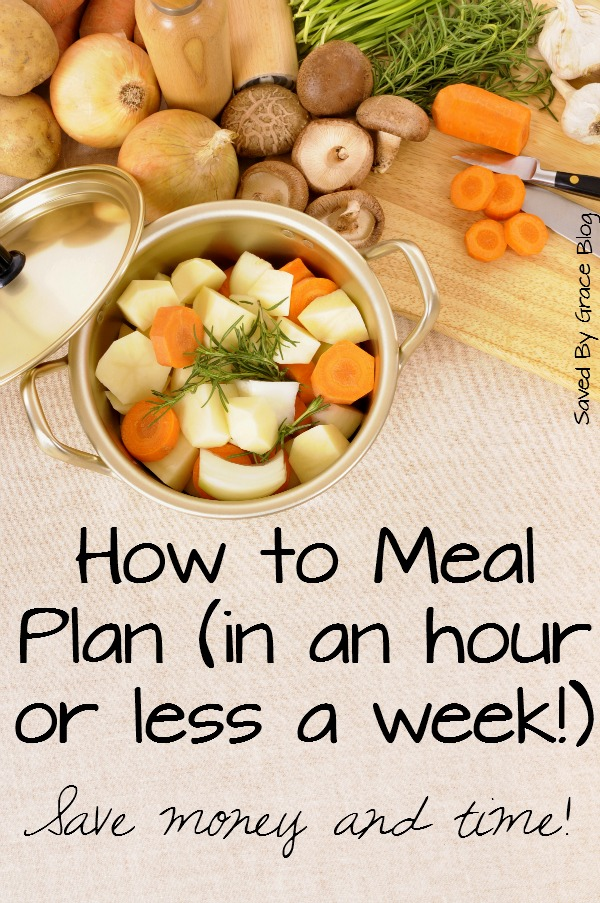 How to Meal Plan in One Hour a Week or Less- learn how important meal planning is for your budget and how to meal plan quickly at home!