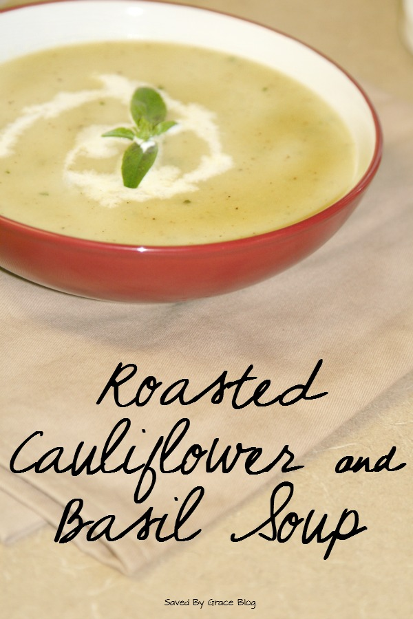 Roasted Cauliflower and Basil Soup