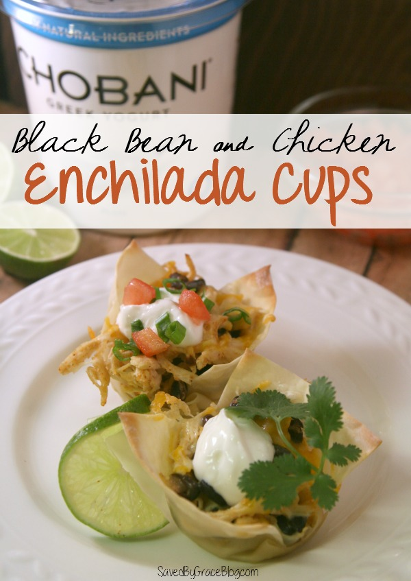 Black Bean and Chicken Enchilada Cups