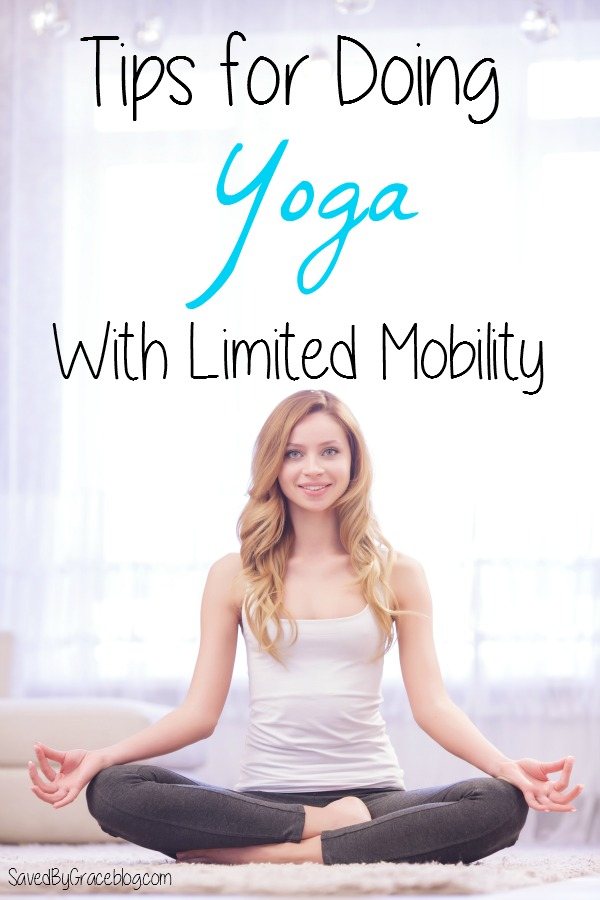 Tips for Yoga with Limited Mobility- Looking to start a yoga routine but deal with mobility issues? Here are some tips for doing yoga with limited mobility!
