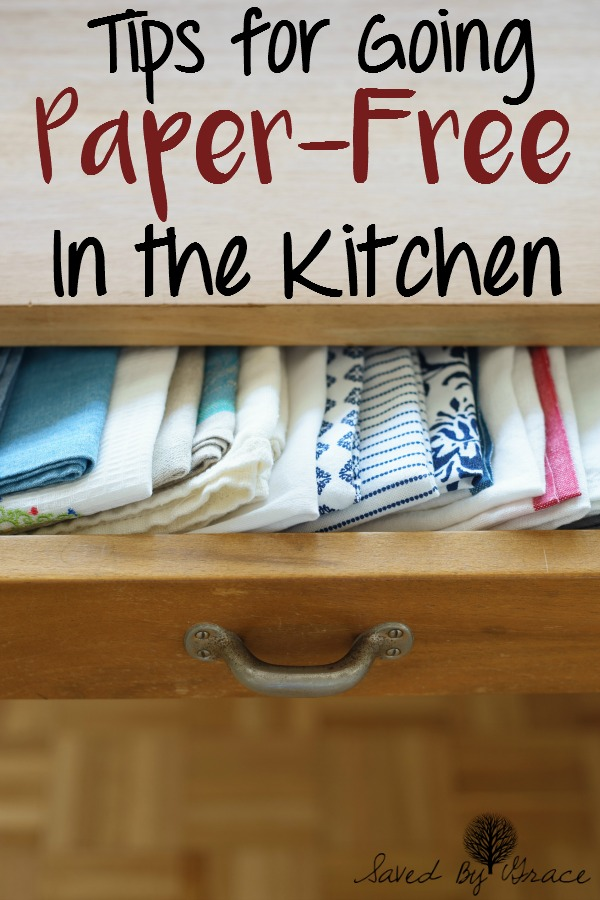 How to Go Paper Free in the Kitchen- Tips for transitioning to a paper free kitchen that is more green and frugal.