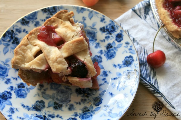fresh cherry pie
