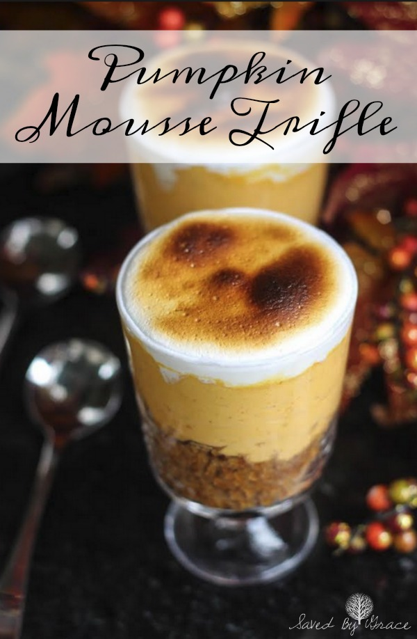 Spice Cake with Pumpkin Mousse Recipe- This recipe combines all the flavors of fall into one delicious dessert for pumpkin fan everywhere!
