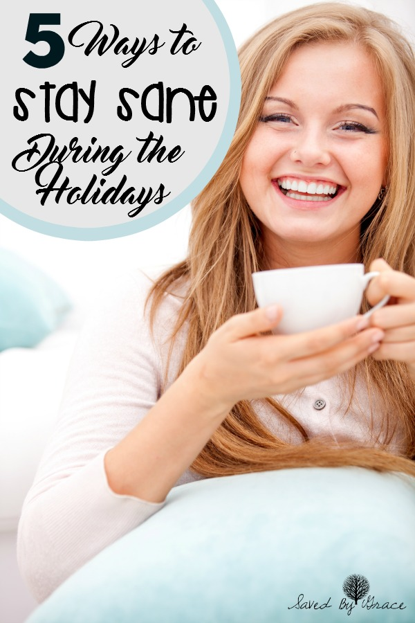 5 Ways to Stay Sane this Holiday Season- Don't get frazzled this year! Here are 5 ways to stay sane this holiday season so you can enjoy it!