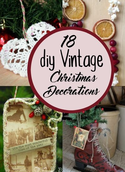 diy old fashioned christmas decorations - Old Christmas Decorations
