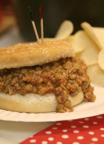 Instant Pot Vegan Lentil Sloppy Joes- Make quick and easy vegan sloppy Joes in your instant pot for this delicious comfort food favorite.