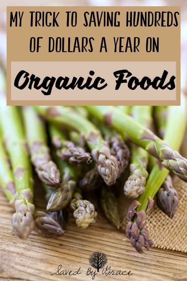How I Save Hundreds of Dollars a Year on Organic Foods- Wondering what the trick is to saving money on organic? Check out these tips to find out!
