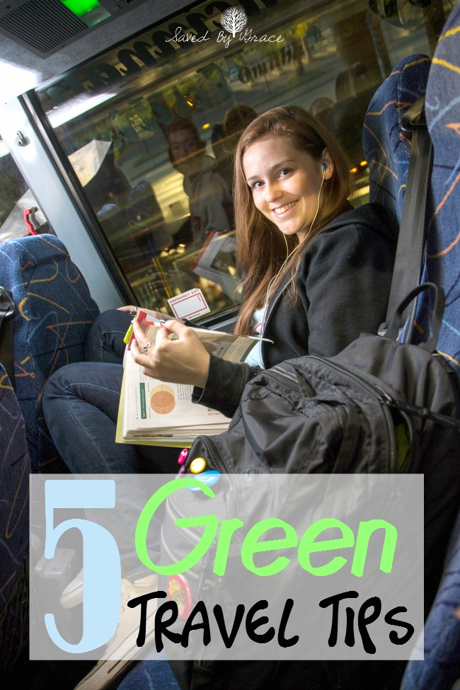 5 Green Travel Tips for Earth Month-  Traveling can be green if you know how! Check out these tips including how to get there with green transportation!