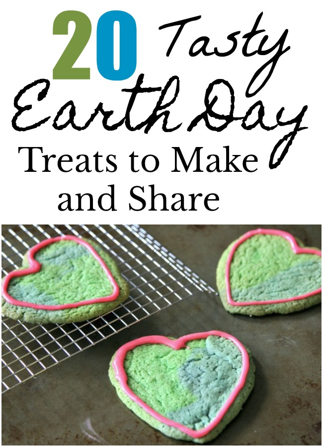 20 Earth Day Treats to Make and Share- Earth day is just a couple of days away. If you are looking for earth day treats to make, here are 20 of them from sugar sweet to healthy treat.